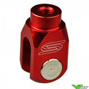 Scar Rear Brake Clevis Red - Kawasaki Suzuki
