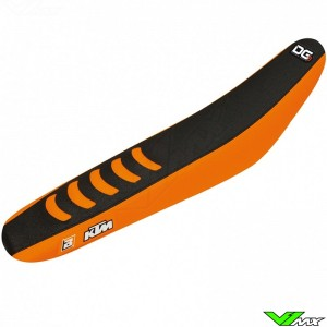 Blackbird Zadelovertrek Zwart/Oranje - KTM 125SX 150SX 250SX 250SX-F 350SX-F 450SX-F