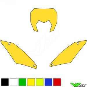 Blackbird Nummerplaat stickers leeg - Sherco 125SE 250SE 300SE 250SEF 300SEF 450SEF