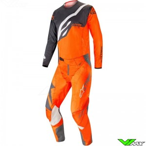 Alpinestars Techstar Factory 2019 Crosspak - Anthracite / Fluo Oranje