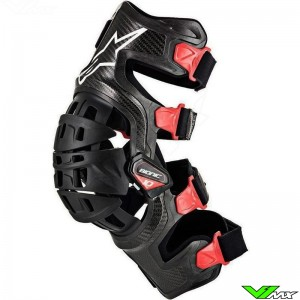 Alpinestars Bionic 10 2019 Kniebrace Links - Zwart / Rood