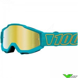 100% Accuri Galak Motocross Goggle - Mirror Gold