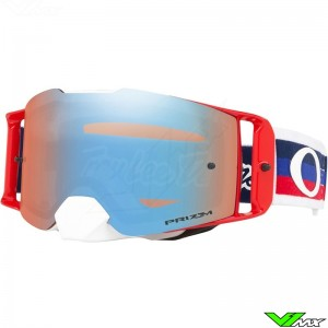 Oakley Frontline Troy Lee Designs Pre-Mix RWB Crossbril - Prizm Sapphire