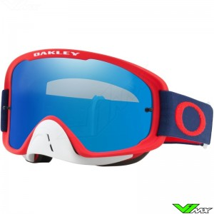 Oakley O Frame 2.0 Motocross Goggle - Red / Navy / Black Ice Irridium Lens