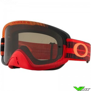 Oakley O Frame 2.0 Motocross Goggle - Frequency / Red / Orange / Dark Lens