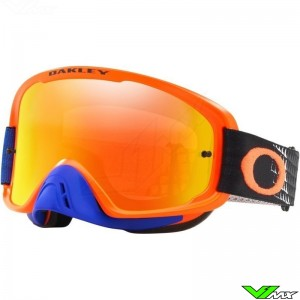 Oakley O Frame 2.0 Motocross Goggle - Dissolve / Orange / Blue / Fire Irridium Lens