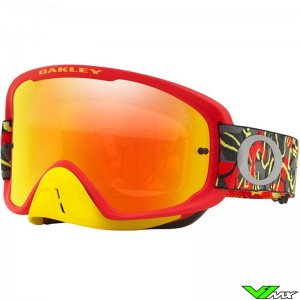 Oakley O Frame 2.0 Motocross Goggle - Camo Vine Night / Fire Irridium Lens