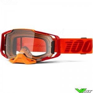 100% Armega Litkit Motocross Goggle - Clear Lens