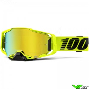 100% Armega Nuclear Circus Motocross Goggle - Mirror Gold