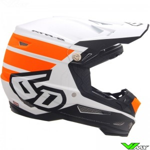 6D ATR-2 Stripe Motocross Helmet - Orange / Mat