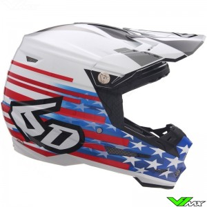 6D ATR-2 Patriot Motocross Helmet - Red / White / Blue