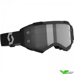 Scott Fury Motocross Goggle with Light Sensitive Lens - Black / Grey