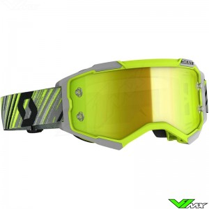 Scott Fury Motocross Goggle - Yellow / Grey