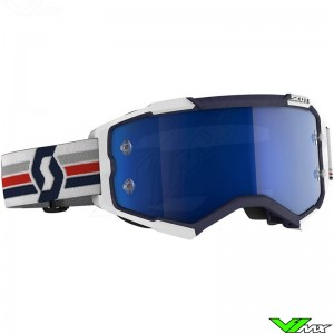 Scott Fury Motocross Goggle - Blue / White
