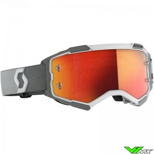 Scott Fury Motocross Goggle - White / Grey