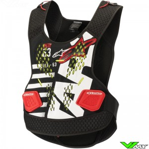 Alpinestars Sequence Bodyprotector - Black / White / Red