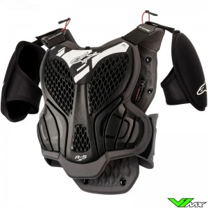 Alpinestars A5S Youth Bodyprotector - Black / Grey
