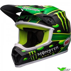 Bell MX-9 McGrath Monster Energy Replica Motocross Helmet