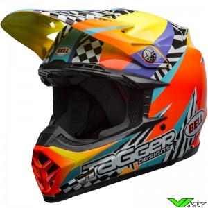 Bell Moto-9 Tagger Breakout Motocross Helmet - Orange / Yellow