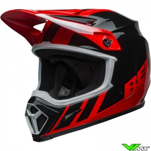 Bell MX-9 Dash Motocross Helmet - Red / Black