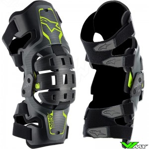 Alpinestars Bionic 5S Youth Youth Knee Brace - Black / Fluo Yellow