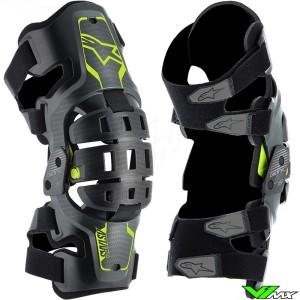 Alpinestars Bionic 5S Youth Kinder Kniebrace - Zwart / Fluo Geel