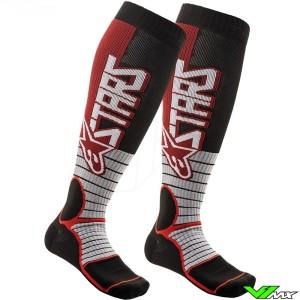 Alpinestars MX PRO 2020 Motocross Socks - Black / Burgundy