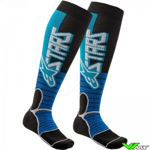 Alpinestars MX PRO 2020 Motocross Socks - Cyan / Black