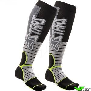 Alpinestars MX PRO 2020 Motocross Socks - Grey / Fluo Yellow