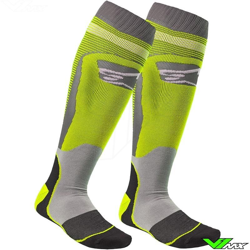 Alpinestars MX Plus-2 MX Boot Socks Small Red White