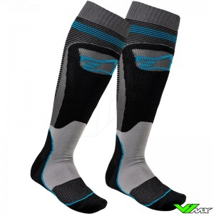 Alpinestars MX PLUS-1 2020 Motocross Socks - Black / Blue