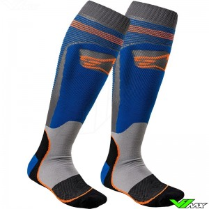 Alpinestars MX PLUS-1 2020 Motocross Socks - Blue / Orange