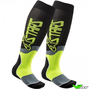 Alpinestars MX PLUS 2 2020 Motocross Socks - Fluo Yellow