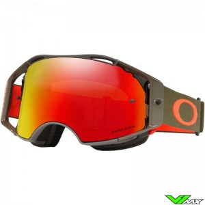 Oakley Airbrake Dark Brush Orange Motocross Goggle - Prizm Torch