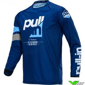 Pull In Challenger Race Motocross Jersey 2020 - Navy / Cyan