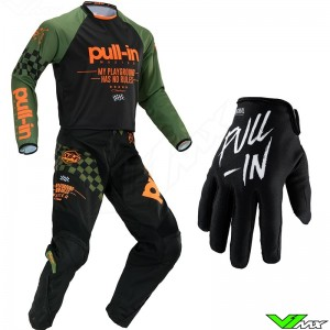 Pull In Challenger Master Motocross Gear Combo 2020 - Kaki / Orange
