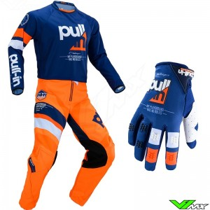 Pull In Challenger Race MX Gear Combo 2020 - Orange / Navy (34/L)