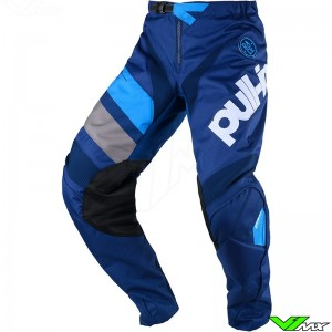 Pull In Challenger Race Youth Motocross Pants 2020 - Navy / Cyan