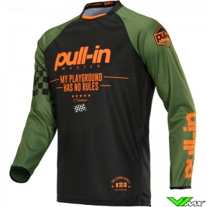 Pull In Challenger Master Youth Motocross Jersey 2020 - Kaki / Orange