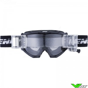 Kenny Track Max Motocross Goggle with Roll-off - Black