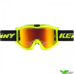 Kenny Track+ Motocross Goggle - Neon Yellow