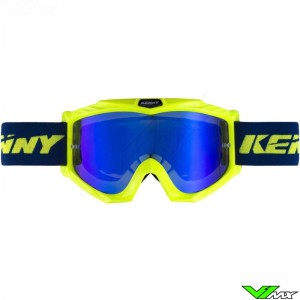 Kenny Track+ Motocross Goggle - Blue / Neon Yellow