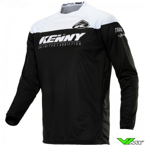 Kenny Track 2020 Cross shirt - Zwart / Wit