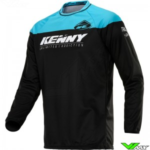Kenny Track 2020 Cross shirt - Zwart / Turquoise