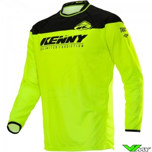 Kenny Track 2020 Cross shirt - Neon Geel