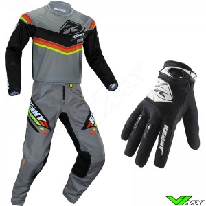 Kenny Track Kid 2020 Youth Motocross Gear Combo - Black / Grey / Orange