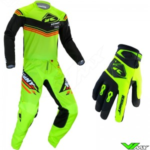Kenny Track Kid 2020 Youth Motocross Gear Combo - Lime / Black