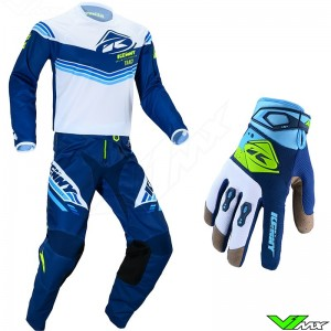 Kenny Track Kid 2020 Youth Motocross Gear Combo - Navy