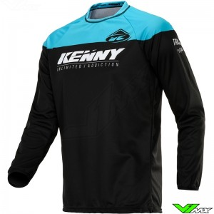 Kenny Track Raw Kid 2020 Youth Motocross Jersey - Black / Turquoise