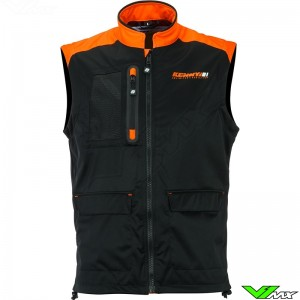 Kenny Body warmer - Black / Neon Orange